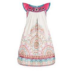 Monsoon - Pink Depansha border dress