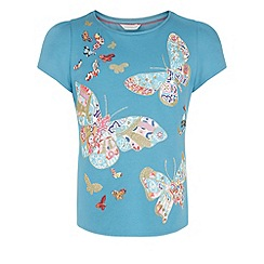 Monsoon - Blue Bala butterfly top