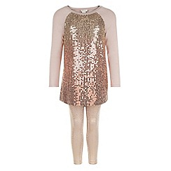 Monsoon - Brown Love sequin tunic set