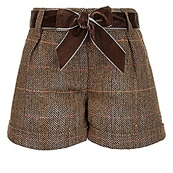 Monsoon - Brown Tilly tweed shorts
