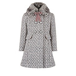 Monsoon - Grey 'Camelia' tweed coat