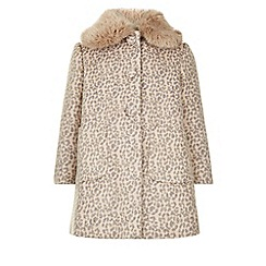 Monsoon - Pink Coco leopard coat