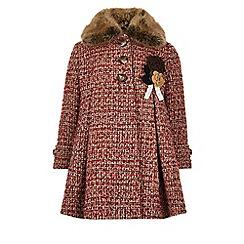 Monsoon - Red Heather tweed coat