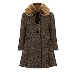 Monsoon - Brown Winnie tweed coat