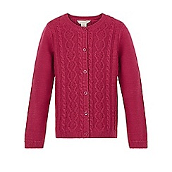 Monsoon - Pink Carla cable cardigan