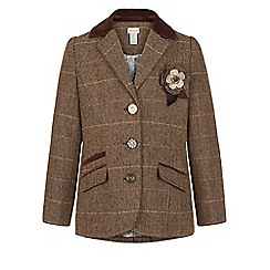 Monsoon - Brown Tilly tweed blazer