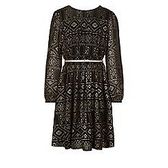 Monsoon - Black Antlanta foil print dress