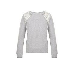 Monsoon - Grey Kim lace sweat