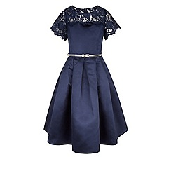 Monsoon - Girls' blue quinn lace dress