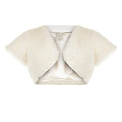 Monsoon - White Violina fur coverup