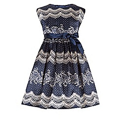 Monsoon - Blue Lulu lace print dress