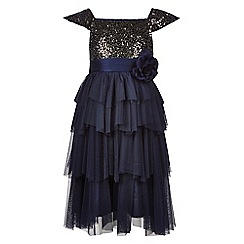 Monsoon - Blue Akari velvet dress