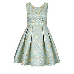 Monsoon - Blue Selina jacquard dress