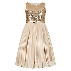 Monsoon - Gold Marilyn sparkle dress