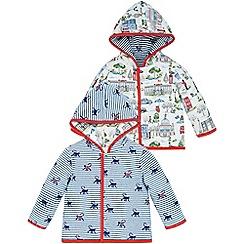 Monsoon - Blue Newborn monty monkey reversible jacket