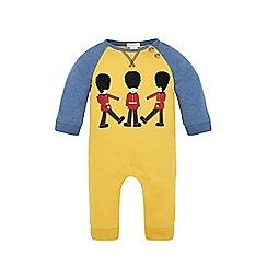Monsoon - Yellow Newborn marly guard sleepsuit