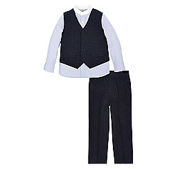 Monsoon - Blue Albert waistcoat shirt & trouser set