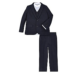 Monsoon - Blue 'Albert' jacket waistcoat shirt & trouser set