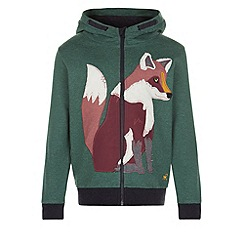 Monsoon - Green Felix fox zip through hoody