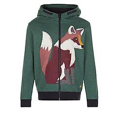 Monsoon - Green Felix fox zip through hoody