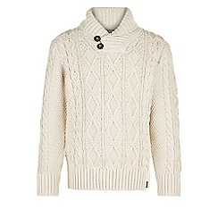Monsoon - Brown Connell cable knit jumper