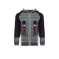 Monsoon - Blue Gerrard guard knitted cardigan