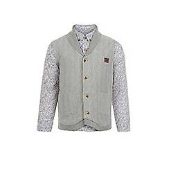 Monsoon - Grey William shirt and waistcoat set