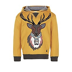 Monsoon - Yellow Sebastian stag hoodie