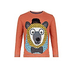Monsoon - Orange Beau bear long sleeve t-shirt