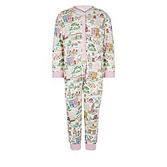 Monsoon - White Bloomsbury london jersey sleepsuit
