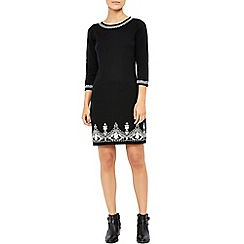 Monsoon - Black Tina cornelli knitted dress
