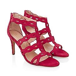 Monsoon - Pink 'Lyra' lasercut heeled sandal