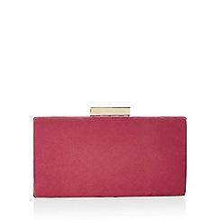 Monsoon - Pink 'Lyra' raspberry microsuede box clutch bag