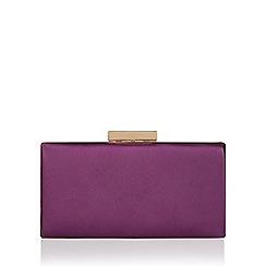 Monsoon - Purple Grace plum satin clutch