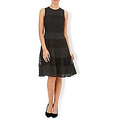 Monsoon - Black Yeelin sleeveless lace dress