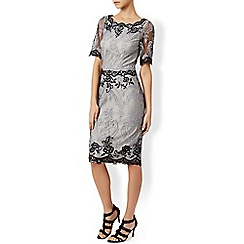 Monsoon - Silver Renae embroidered dress