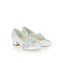 Monsoon - White Beautiful flower strap charleston shoes