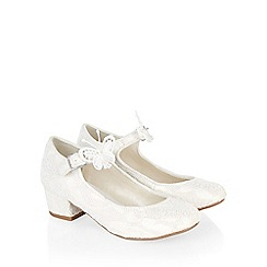 Monsoon - White Butterfly lace cha cha shoe