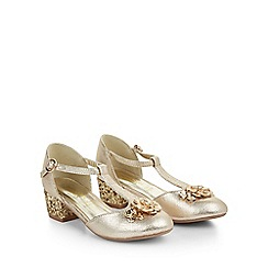 Monsoon - Gold Belle flower sparkle heel charleston