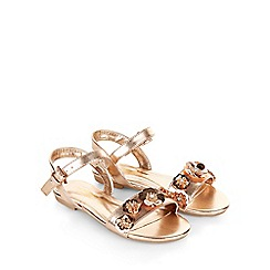 Monsoon - Gold Sequin flower sandal