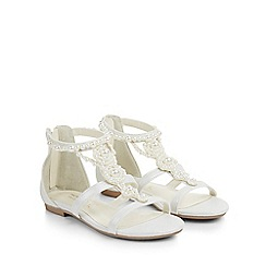 Monsoon - White Pretty pearl sandal