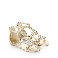 Monsoon - Gold Daisy gem flower sandal