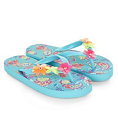 Monsoon - Girls' multicoloured Cosima print flip flop
