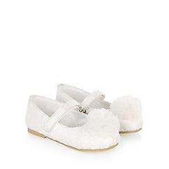 Monsoon - White baby lace pom pom walker