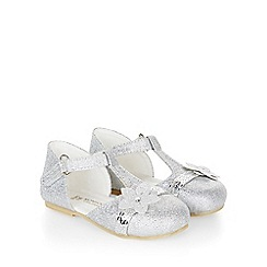 Monsoon - Silver Baby glitter bow walker