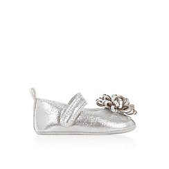Monsoon - Baby girls' silver pom pom bootie