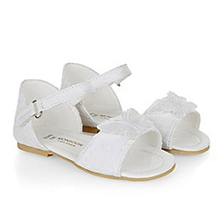 Monsoon - Baby girls' white butterfly lace sandal