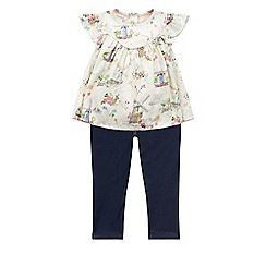Monsoon - Baby girls' white betty top & jeggings set