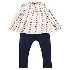 Monsoon - Blue Baby Isla blouse set