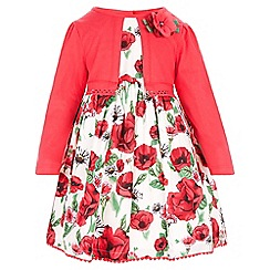 Monsoon - Red Baby Scarlet 2 in 1 dress